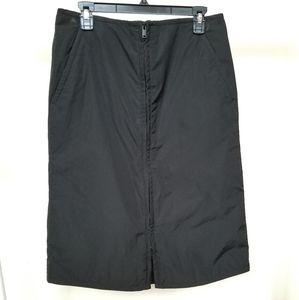 COS black zippered skirt